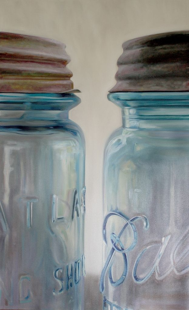 oil on canvas, by sally tharp.