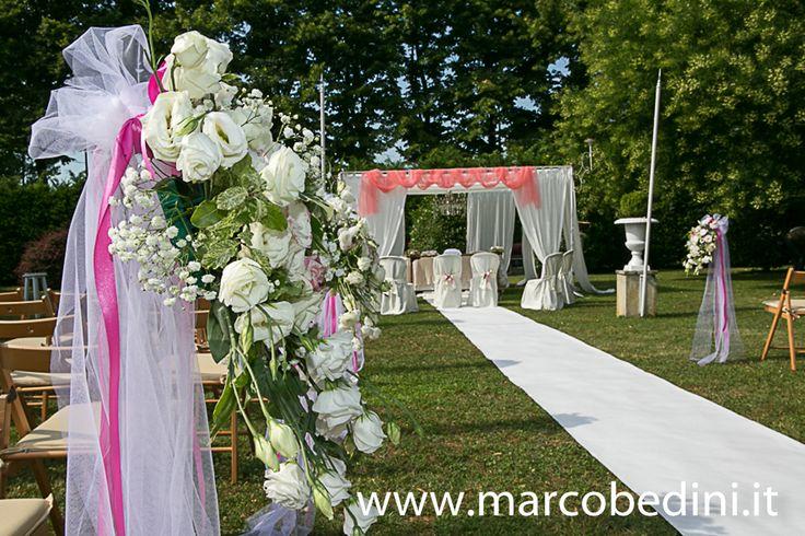 Ill giardino allestito per un matrimonio