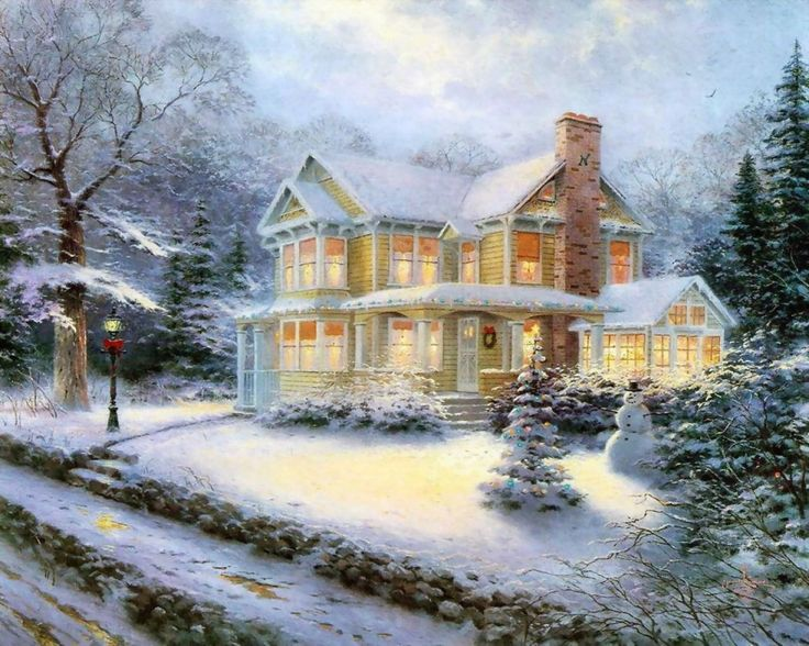 Each art piece of Thomas Kinkade Christmas creates is a quiet messenger in the home, affirming the basic values of family and home, faith in God, and the luminous beauty of nature. Description from oilpaintingfactory.com. I searched for this on bing.com/images