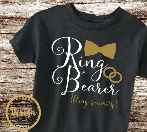 Ring Bearer shirt Ring Security Shirt by vinylpopdesignshop