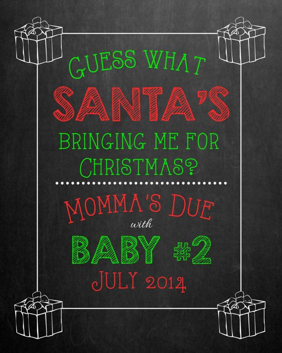17 Best images about Announcement ideas – Christmas Baby Pregnancy Announcement