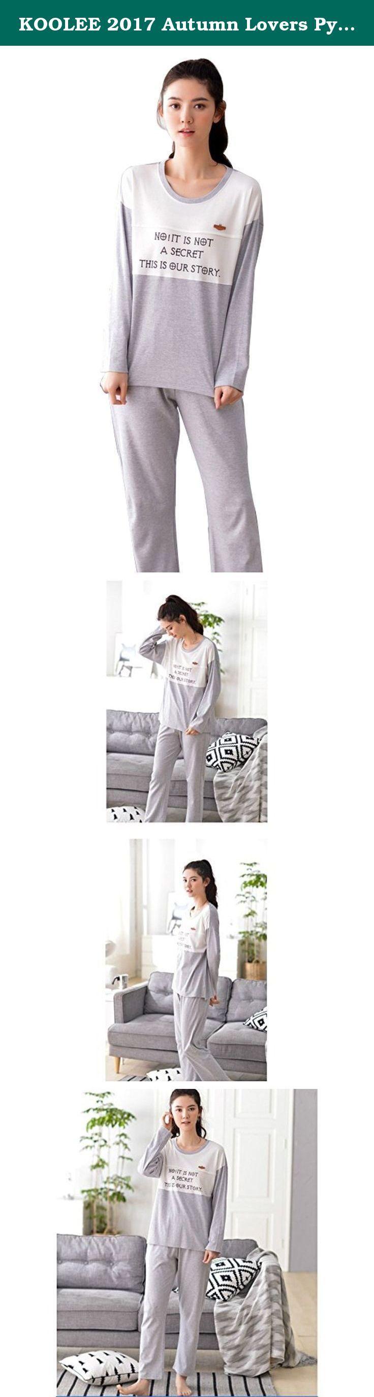 KOOLEE 2017 Autumn Lovers Pyjamas Long-Sleeve Cotton Couples Matching Pajamas (XL, Women grey). 2017 Autumn Lovers Pyjamas Long-Sleeve Cotton Couples Matching Pajamas.