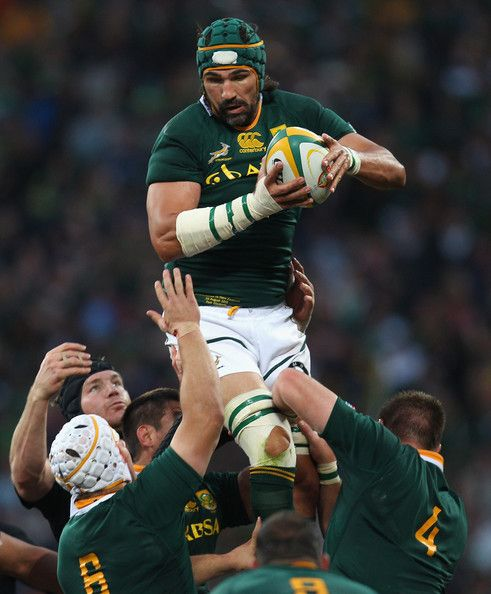 Victor Matfield in Tri Nations - South Africa v New Zealand