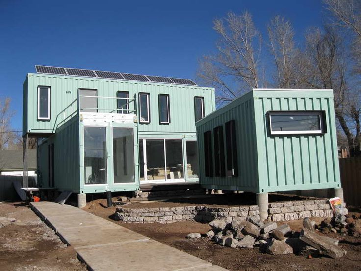 shipping container home double doors - Fertig Versand Container Huser Usa
