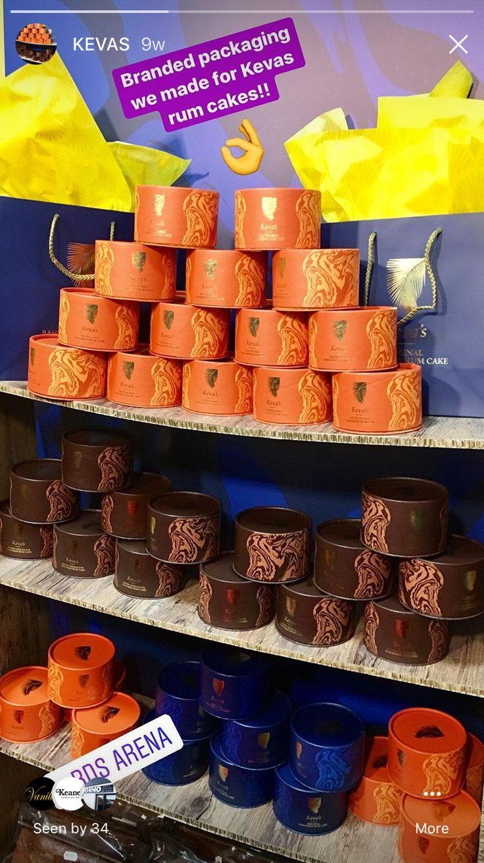 Branded cake boxes for Kevas!! 👌