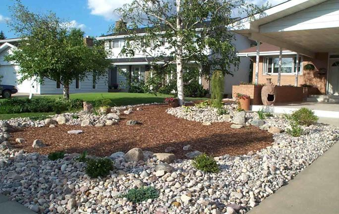 xeriscape front yard landscaping