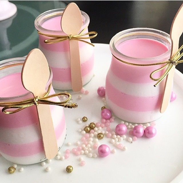 #mousse_cups  Modern Pink and Gold Birthday Party #teen_party #dolcedesigns1