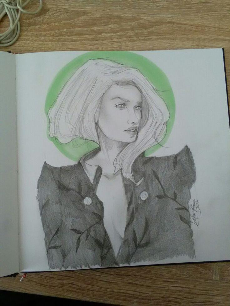 Sketch #autumn #draw #pencil #natureandgirl #loveart
