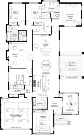 House Blueprints on 2 bedroom starter home plans