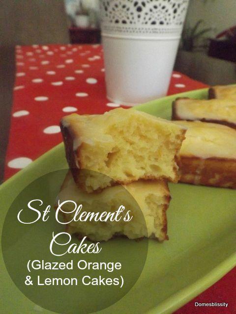 St Clement's Cakes (Glazed Orange & Lemon Cakes) - Domesblissity.com
