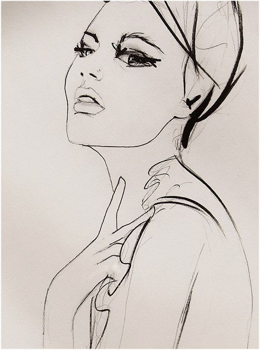 Substitute Art Print, Fashion Illustration by Leigh Viner
