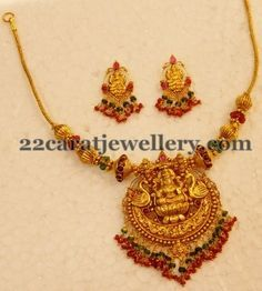 22ct Traditional Light Temple Necklace
