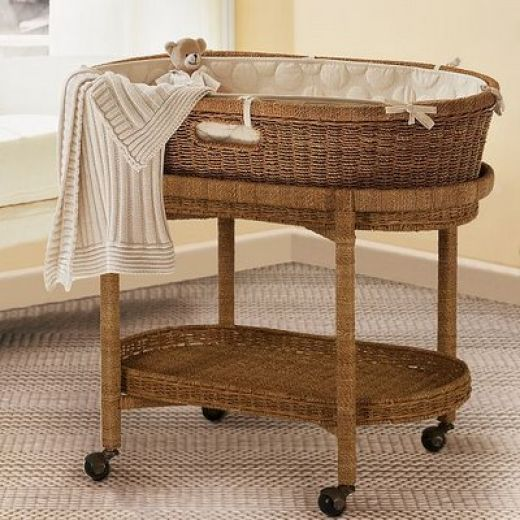 Vintage to Modern Baby Bassinets and Moses Baskets: Includes Pottery Barn Kids Bassinet Review