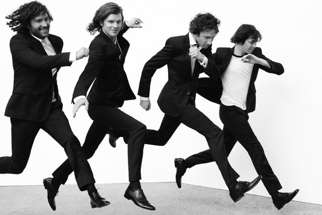 The band Miami Horror in the Hugo Super Black Suit