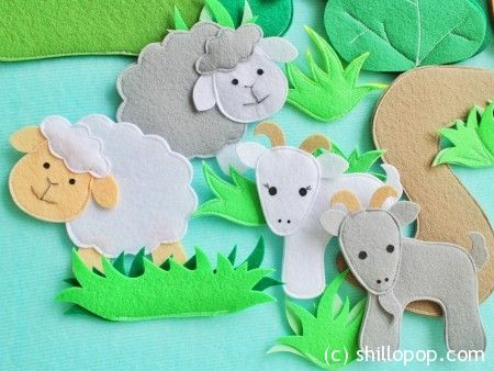 домашние животные игрушки из фетра для ковролинографа выкройки 4