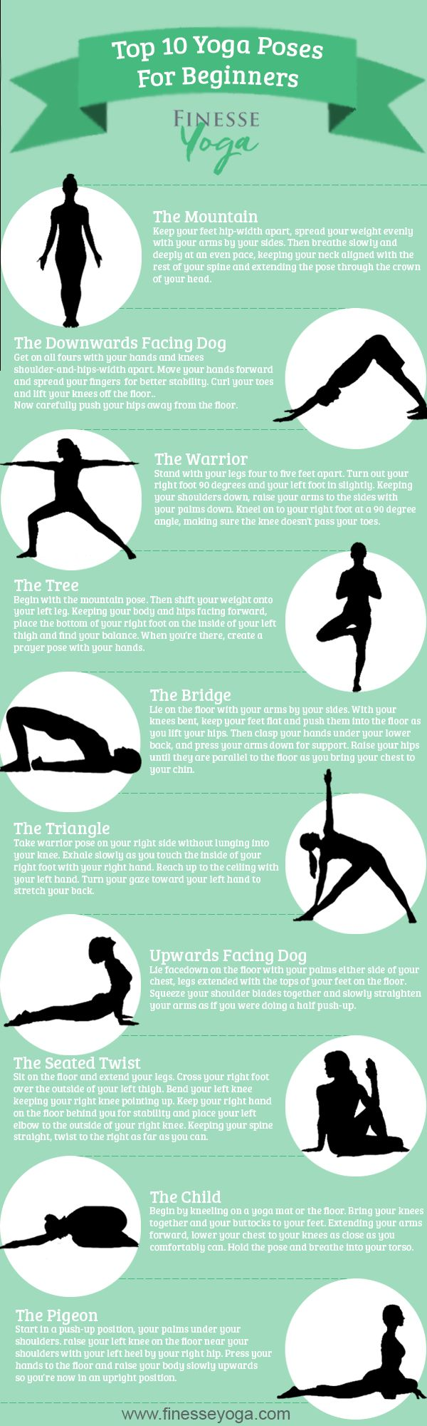 Topmost Yoga Poses For Beginners #Infographics