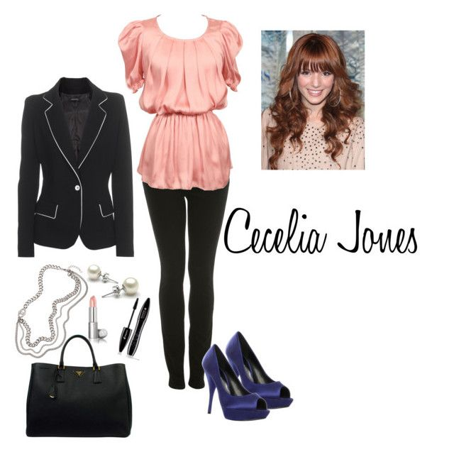 """Cecelia Jones"" by lisssparks ❤ liked on Polyvore featuring Miss Selfridge, KG Kurt Geiger, Plein Sud Jeanius, ABS by Allen Schwartz, Prada and CeCe"