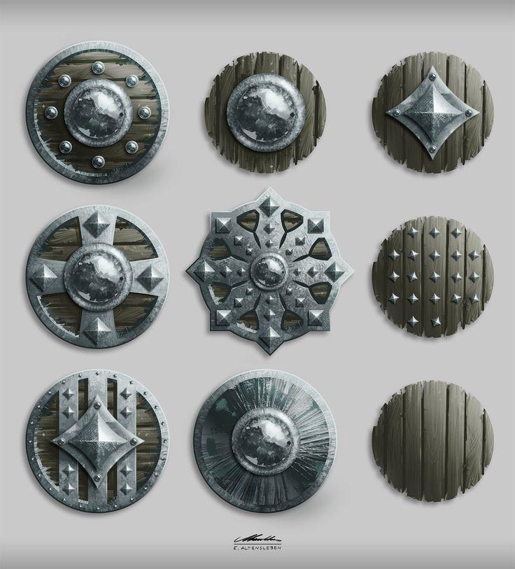 ArtStation - Shields II, Erick Altensleben