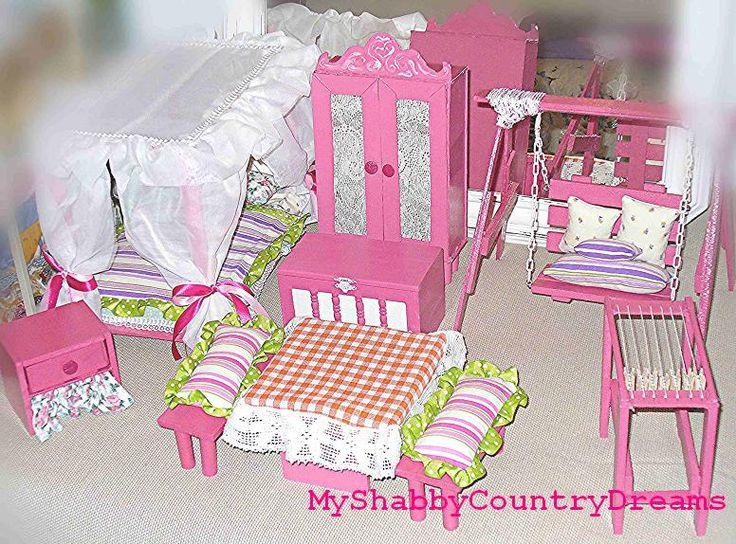 Mobili per bambole fai da te dollhouse pinterest ana for Spranga per porta fai da te