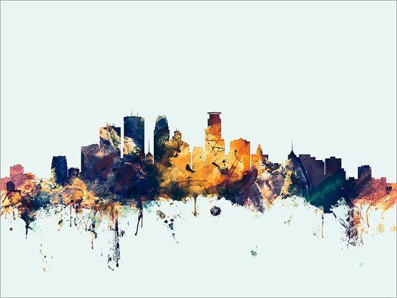Minneapolis Skyline Minneapolis Minnesota Cityscape by artPause