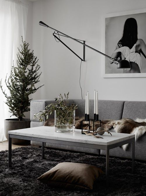 Cosy Christmas inspiration from Hitta Hem | Scandinavian Deko :-) Get the look with the Flos 265 Wall Lamp http://www.nest.co.uk/product/flos-265-wall-lamp
