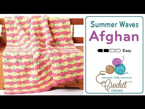 Crochet Summer Waves Blanket + Tutorial - The Crochet Crowd