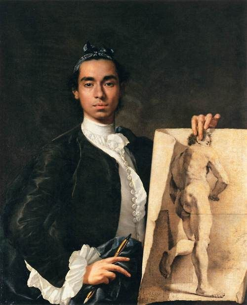 Portrait of the Artist - Luis Meléndez, 1746  (I recall seeing that painting in 8th grade at a museum, I had a ridiculous crush on him!!)