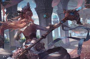 fantasy umění, dívka, válečník, zbraň