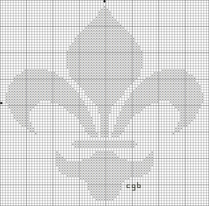 free fleur-de-lis cross stitch pattern. I would like to put this on a sweater with a waffle grid on it.