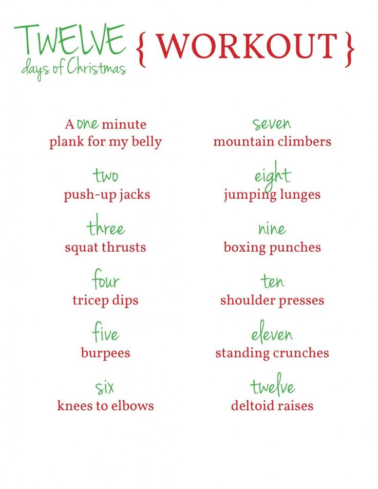 No Excuses: The Top 10 Christmas Workouts