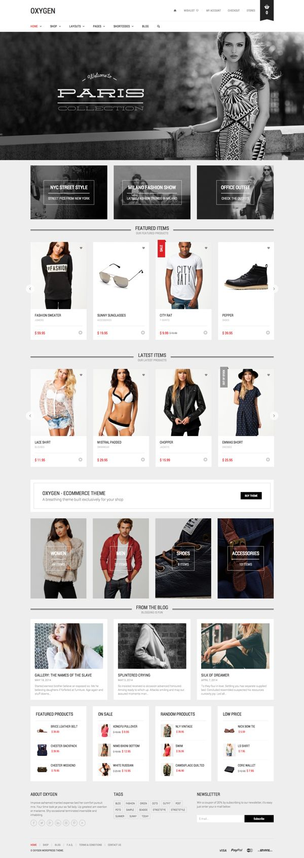 Oxygen - eCommerce Theme by Art Ramadani, via Behance