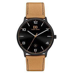 Danish Design IQ29Q1127 | camel - zwart horloge