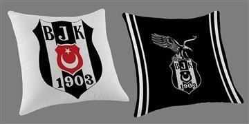 Taç Beşiktaş Logo Kırlent