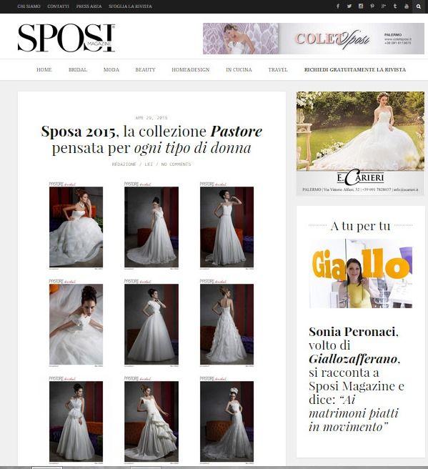 www.sposamagazine.it Editorial Pastore Bridal Collection 2015 #editorial #sposimagazine #pastorebridal #collection2015 #pastorepress