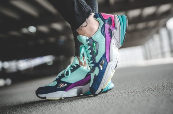 designer fashion 94ae1 cc826 End Summer With The adidas WMNS Falcon Clear Mint Collegiate Navy Before  summer is officially over