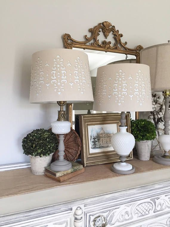 Pair of Lamps, Vintage Milk Glass Lamps, Vintage Lamps, French Lamps ...
