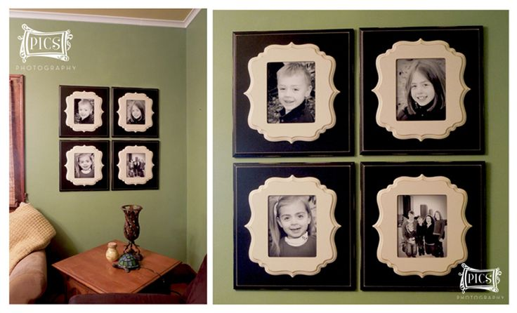Wall display, quad with Organic Bloom frames