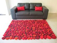 alfombra mara medida x colores rojo claro rojo italiano burdeo