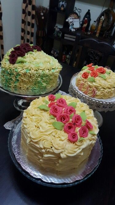 Queques  decorados con  buttercream
