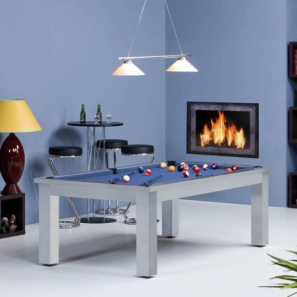 Deux nouvelles tables de billard américain  https://www.cfbl-billard.fr/ le billard bora-bora qui existe en noir, blanc ou bois avec un drap vert, rouge ou bleu