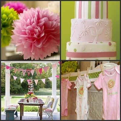 Pink & Green Baby Shower