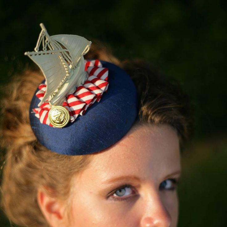 hello sailor nautical fascinator by the headmistress | notonthehighstreet.com