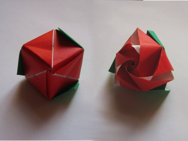 Origami Magic Rose Cube Assembly Instructions Cube Made Of Paper