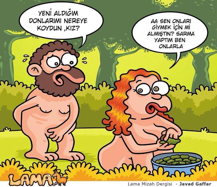- Yeni aldığım donları nereye koydun, kız? + Aaa sen onları giymek için mi almıştın? Sarma yaptım ben onlarla. #karikatür #mizah #matrak #komik #espri #şaka #gırgır #komiksözler