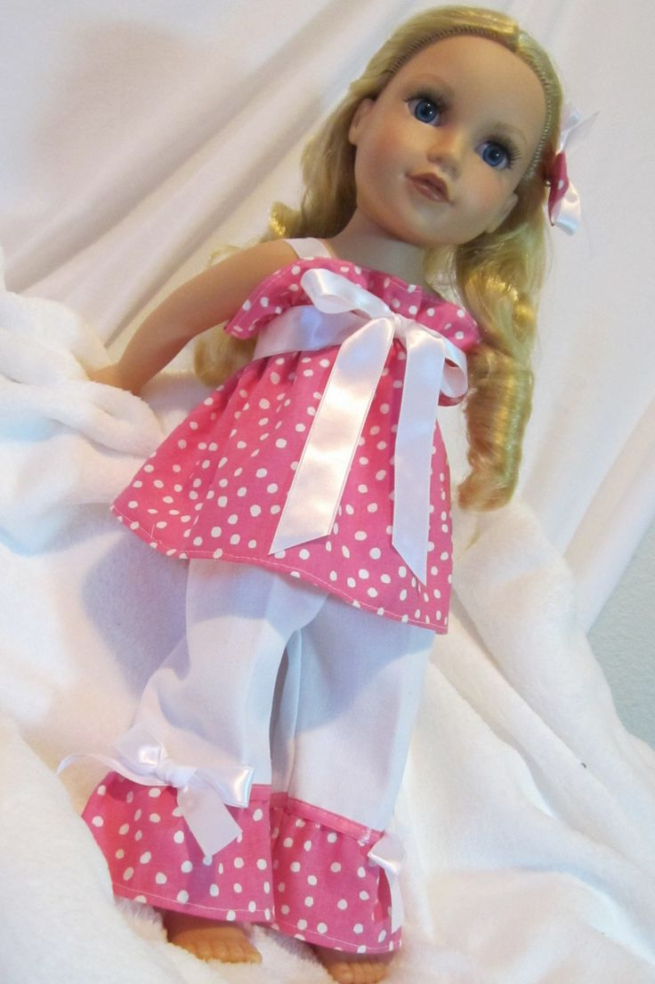 American Girl Doll Clothes 18 inch Dolls Pinky Power 3 PC Pant/Dress Outfit For American Girl Doll and Similar Dolls.. $17.50, via Etsy.