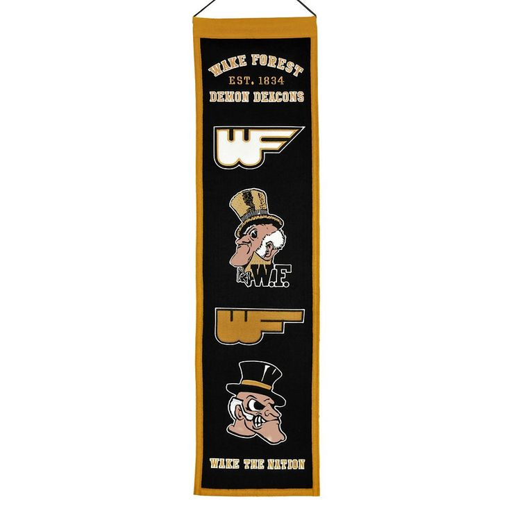 Wake Forest Demon Deacons Heritage Banner, Multicolor