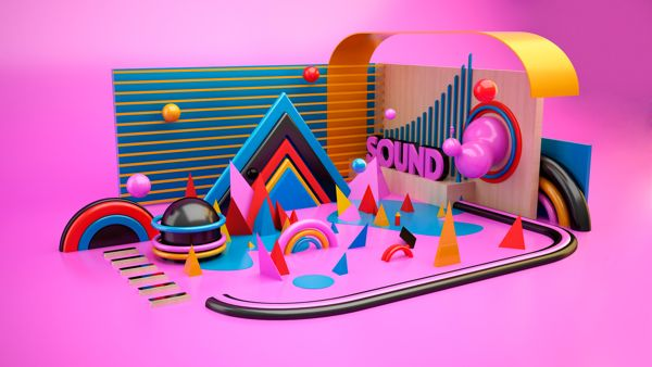 Sound by Jeison Barba, via Behance (Cinema 4D Photoshop)
