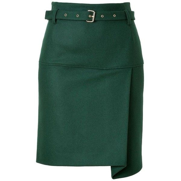 Pencil skirts ❤ liked on Polyvore featuring skirts, green asymmetrical skirt, green skirt, knee length pencil skirt, asymmetrical pencil skirt and pencil skirts