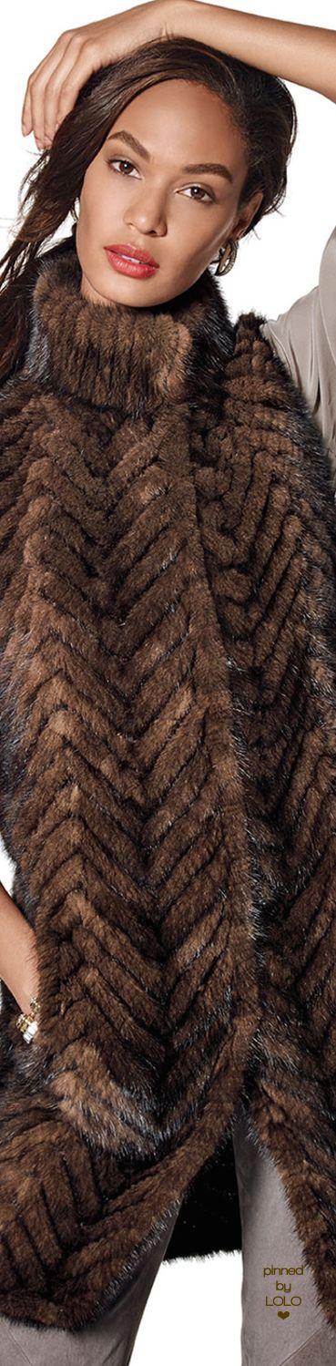 Belle Fare Herringbone Mink Fur Vest | LOLO❤︎