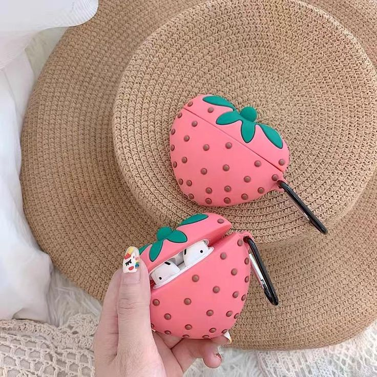 Cute strawberry airpods case for iphone pn2307 in 2020